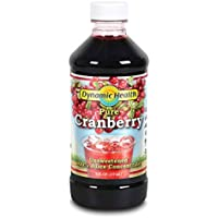 Dynamic Health 237ml 100 Percent Pure Organic Cranberry Juice Concentrate,