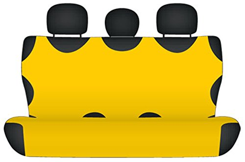 ZentimeX Z710666 Sitzbezüge Rückbank T-Shirt-Design Baumwolle gelb