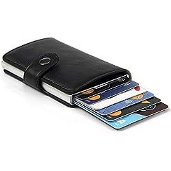 Porta Carte di Credito da Uomo | Portafoglio per Carte di Credito e Banconote con Protezione RFID | Design da Business Elegante e Innovativo, Sottile e Capiente con Confezione Regalo | Per 8 Tessere