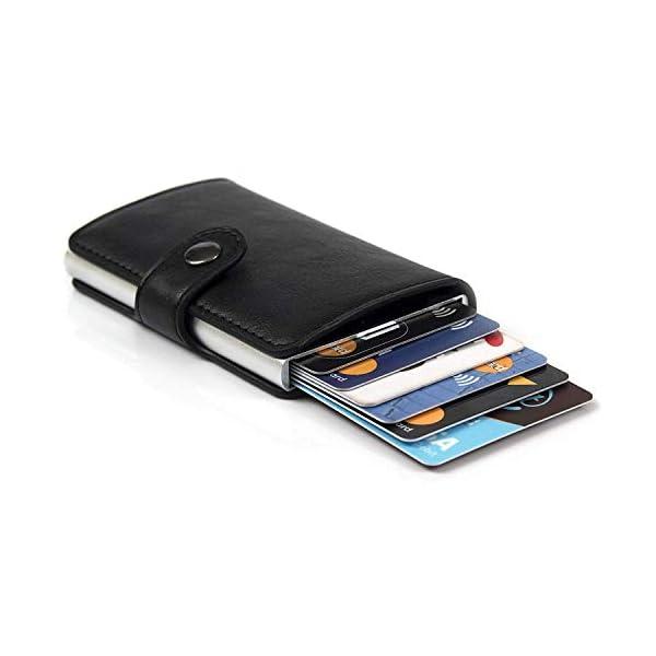 Porta Carte di Credito da Uomo | Portafoglio per Carte di Credito e Banconote con Protezione RFID | Design da Business… 1 spesavip