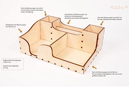 Birke-set Schreibtisch (MUUDA FILIP Schreibtisch-Organizer - Auch als Set mit zauberhafter 3D Pop-Up Klappkarte erhältlich!, Muuda:Filip)