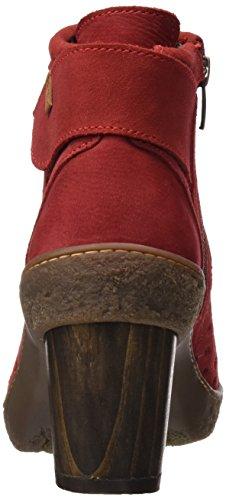 El Naturalista Nf77 Lux Suede Pleasant Lichen, Stivaletti Donna Rosso (Tibet)