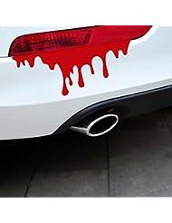 Location de voiture tuning autocollants avec sang créatifs les feux arrière phares stick queue saignements légers corps autocollants
