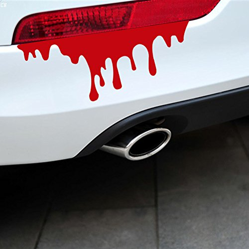 Auto Tuning Aufkleber für Auto mit Blut kreative taillights Scheinwerfer Stick Licht-Schwanz Körper Blutungen Aufkleber