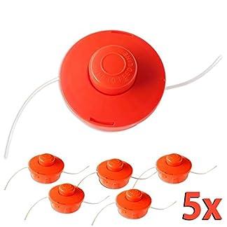 Nemaxx 5X FS1 Cabezal de Doble Hilo semiautomático – Cabezal de Corte de siega -Accesorios de Corte – Hilo de Nylon – Carrete para desbrozadora Gasolina – Naranja