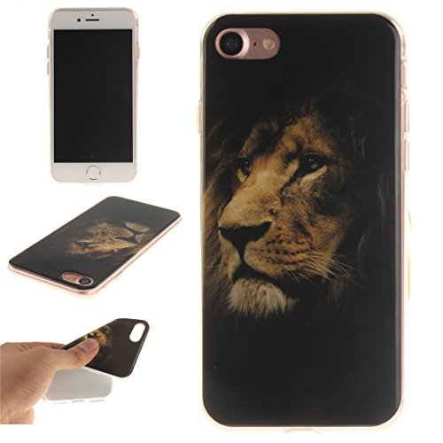 Cover Apple iPhone 7 (4,7 pollici), nancen Ultra Sottile Custodia morbida Custodia Cover TPU Silicone Case Cover di protezione leone