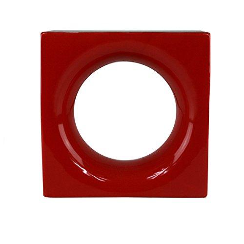 6 Stück Style'n Art Deko Idee Loop Rot 19x19x8 cm - 3