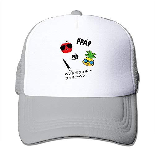Preisvergleich Produktbild Sdltkhy Männer Frauen PPAP Stift Ananas Apple Pen Trucker Hat Baseballmütze Mütze (6 Farben) Asche Multicolor7