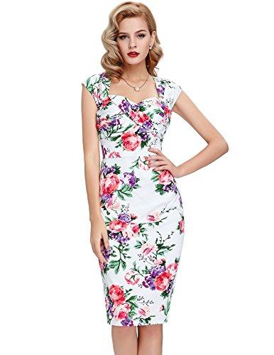 ... 1950er Style Vintage Kleid Elegant Etuikleid Knielang Festliche Kleider  Bluemn2 ...