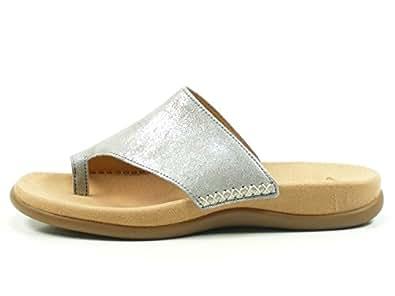Gabor Shoes Damen Jollys Pantoletten, Mehrfarbig (Silber), 43 EU