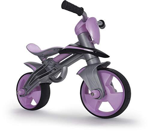 INJUSA - Bicicleta Jumper sin Pedales para niños a Partir de 2 años, Casco Incluido y Bandas de Goma en Ruedas, Rosa (502)