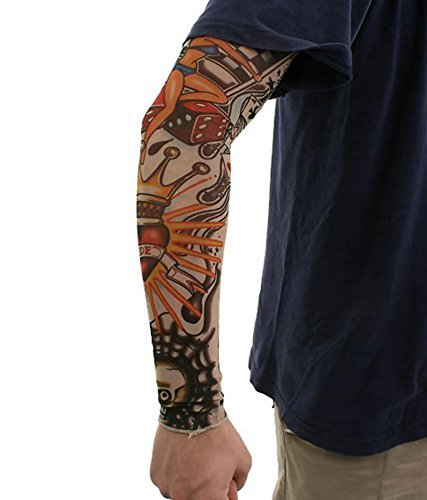 Glamio Unisex Sun and Dust Protection Arm Tattoo Sleeves (Random Design) (1 Pair)  available at amazon for Rs.110