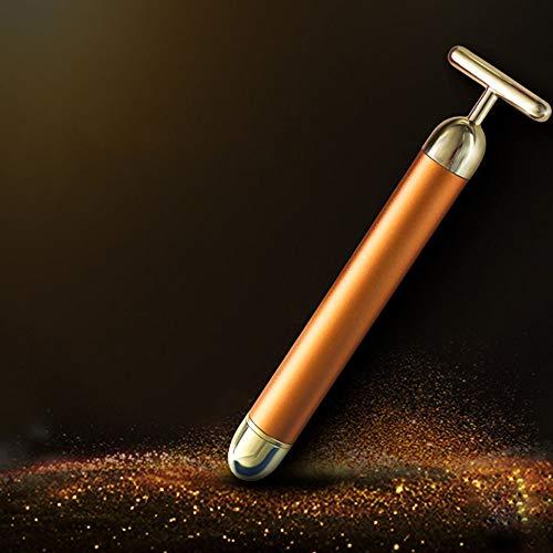 HJDQ Beauty Bar - Pulso Facial masajeador eléctrico Micro de la vibración en Forma de T Bar Impermeable Estiramiento Facial masajeador Anti-Arrugas, Oro