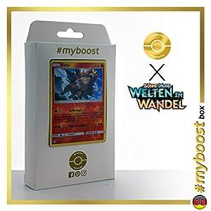 Entei 28/236 Holo Reverse - #myboost X Sonne & Mond 12 Welten im Wandel - Box de 10 cartas Pokémon Alemán