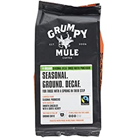 Grumpy Mule Organic Swiss Water Seasonal Ground Decaf Coffee, 227 g