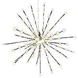 Nipach GmbH 120 LED Meteor Stern Leuchtfarbe warm weiß Ø 60 cm für Innen und Außen mit Trafo Weihnachtsstern zum Aufhängen Dekostern Weihnachtsdeko Xmas