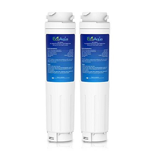 2x EcoAqua EFF-6025A Nevera Filtro de Agua para reemplazar Bosch UltraClarity 644845
