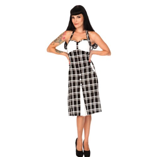 Voodoo Vixen -  Vestito  - Donna noir-blanc