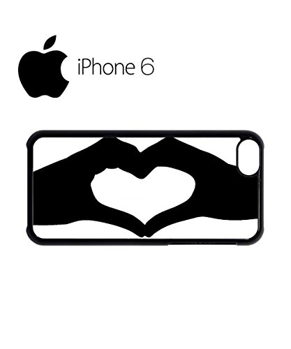 Heart Shaped Hand Fun Swag Mobile Phone Case Back Cover Hülle Weiß Schwarz for iPhone 6 White Schwarz