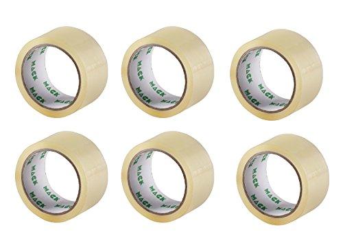 6 Rollen Klebeband Packband 50m X 48mm transparent