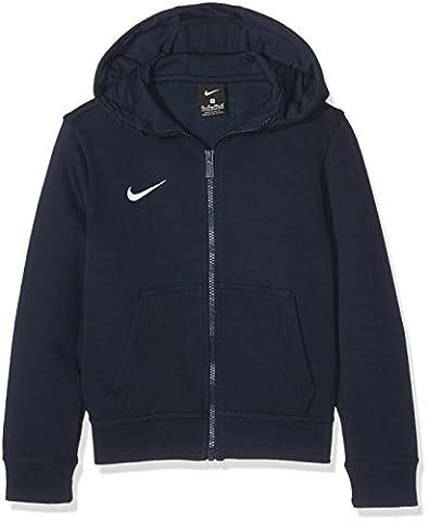 NIKE Sweat-shirt pour enfant TEAM Club Full Zip Veste à capuche M Obsidian/football White