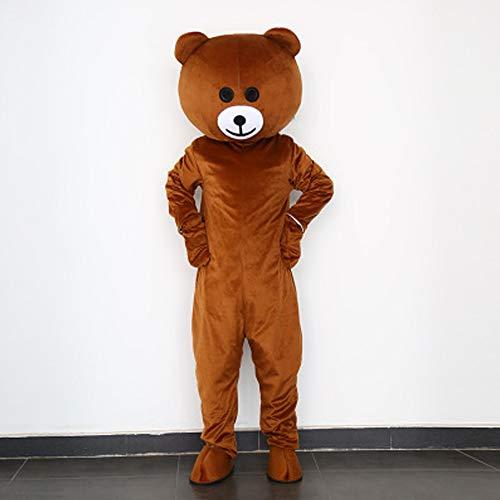 I BIMS-LICHT China bär-Kostüm, Ganzkörper Tier-Kostüme, Tier-Kostüme, Geschenk Erwachsene, 155-185cm, Verkleidung, Karneval, Halloween, Fasching, Geburtstags-Geschenk (A, ()