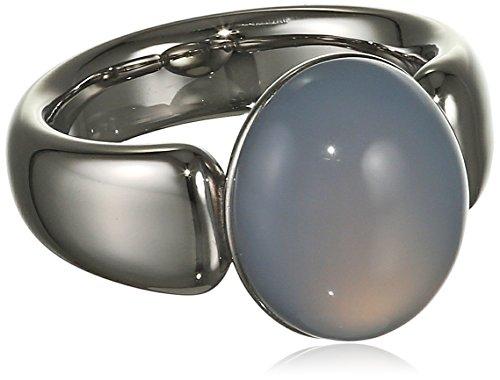 Xen Damen-Ring Edelstahl Chalcedon blau Gr. 56 (17.8) - 011707G56