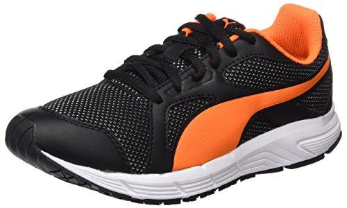 Puma Axis V4 Mesh Jr, Sneakers Basses Mixte Enfant, Noir (Puma Black-Orange Clown Fish 07), 36 EU