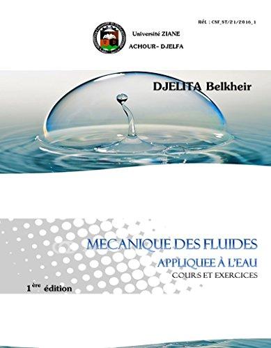 mcanique des fluides applique  l'eau: cours et exercices