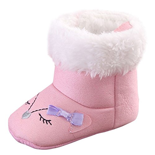 ROPALIA Baby Girls Toddler Infant Winter Warm Snow Boots Fur