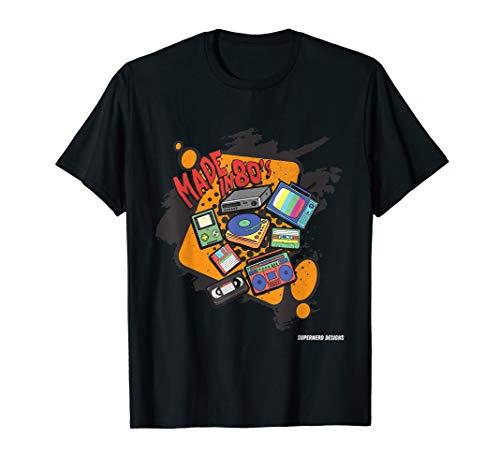 Jahre 80er Rave Kostüm - 80er Party Outfit T-Shirt Kostüm Kleidung Klamotten Hits