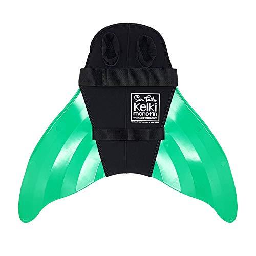 SUN TAILS Premium Keiki Meerjungfrauen Monoflossen Schwimmen Kinder grün