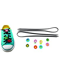 AVIRGO Universal Lazy No Tie Silicone Shoelace Rubber Elastic Slip Sneaker Shoe Laces Running Shoelaces Athletic... - B01N63CGMO