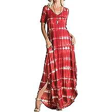 Amazon.es  faldas largas de verano - Rojo c22cb9588bd9