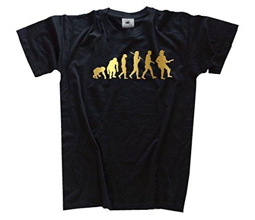 Shirtzshop T-Shirt Gold Edition Countrysänger Country Western Rodeo Evolution Schwarz, XXXL
