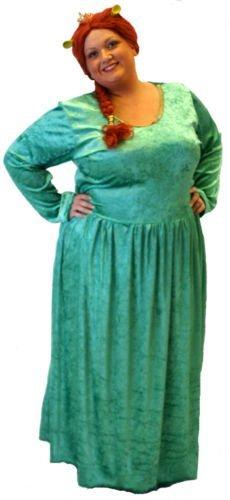 ittelalterliche-Pantomime-Fancy Kleid-Musical Damen/Prinzessin Fiona mit Ohren Damen-kostüm - Von Übergrößen 16-20 - Wie abgebildet, Ladies: 16-20 ()