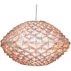 Lámpara de techo con cable en suspensión (E27, bambú natural, diámetro 41,5 cm)