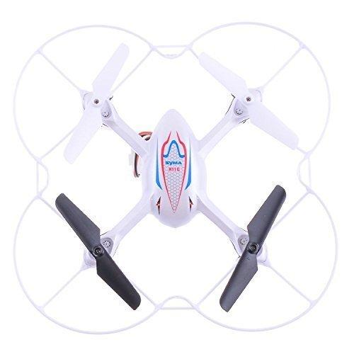 Syma X11 360 grad Eversion Mini Fernbedienung Hubschrauber R/C Quadkopter Drone UFO mit LED-Lampen Propeller Defender - Weiß