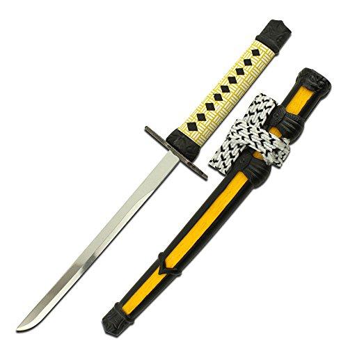 Klein Samurai Schwert Brieföffner gelb -