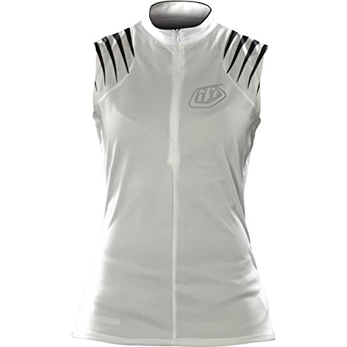 Troy Lee Designs Manches White Maillot Femme Blanc