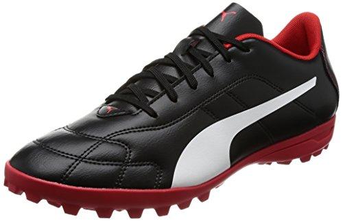 Puma Herren Classico C TT Fußballschuhe, Schwarz Black-White-High Risk Red, 44.5 - Kunstrasen Fußball Schuhe