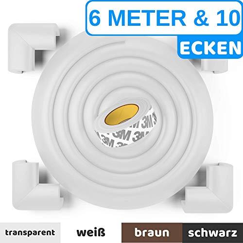 Premium Kantenschutz von BEARTOPTM - weiß, schwarz, braun - sehr starker Kleber für dauerhaften...