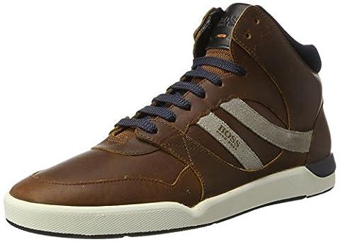 BOSS Orange Herren Stillnes_Hito_pp 10201493 01 Hohe Sneaker, Braun (Medium Brown), 45 EU