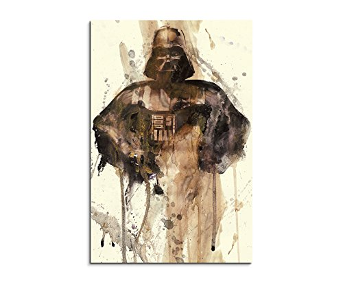 Paul Sinus Art Darth_Vader_90x60cm Wandbild Aquarell Unikat Kunst Bild Wie Gemälde Kunstdruck