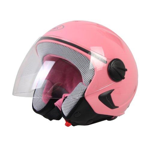 BHR Helm Demi-Jet Kinder, Rosa, 51-52 (M)