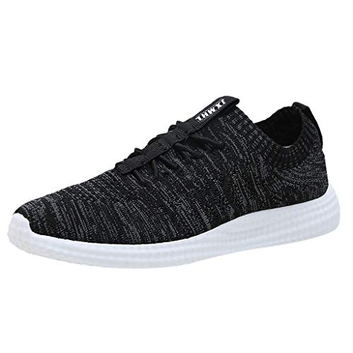 KERULA Sneakers, Fashion Men Breathable Mesh Outdoor Shoes Sneakers New Solid Running Athletic Casual Day Ultra Lightweight Perforated Slip on Offroad Sport Sneaker füR Damen & Herren