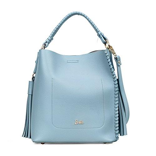Barbie hochwertiges PU große modische gültig innovative Umhängetasche mit Handtasche für Damen #BBFB529 (Hellblau) (Handtasche Zierliche)