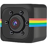 MENGZHEN 1PC Mini cámara Oculta Full HD 720P portátil pequeña con visión Nocturna y detección de Movimiento para Interiores y Exteriores