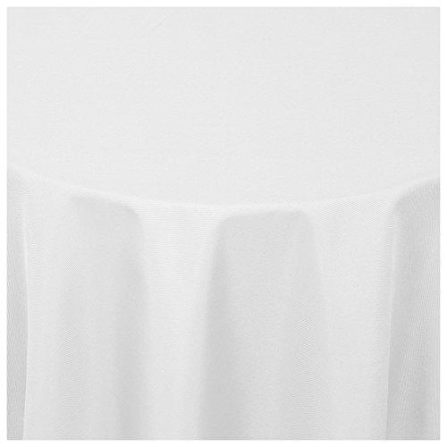 Moderno® Textil Tischdecke Uni Design | oval 160x220 cm in Weiss Damast | Eckig Oval Rund Größe und Farbe wählbar