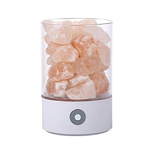Himalaya Runde Salz Stein Lampen Salz-Kristall-Lampe Natürliche Salz-Dekoration-Lichter Weiß...